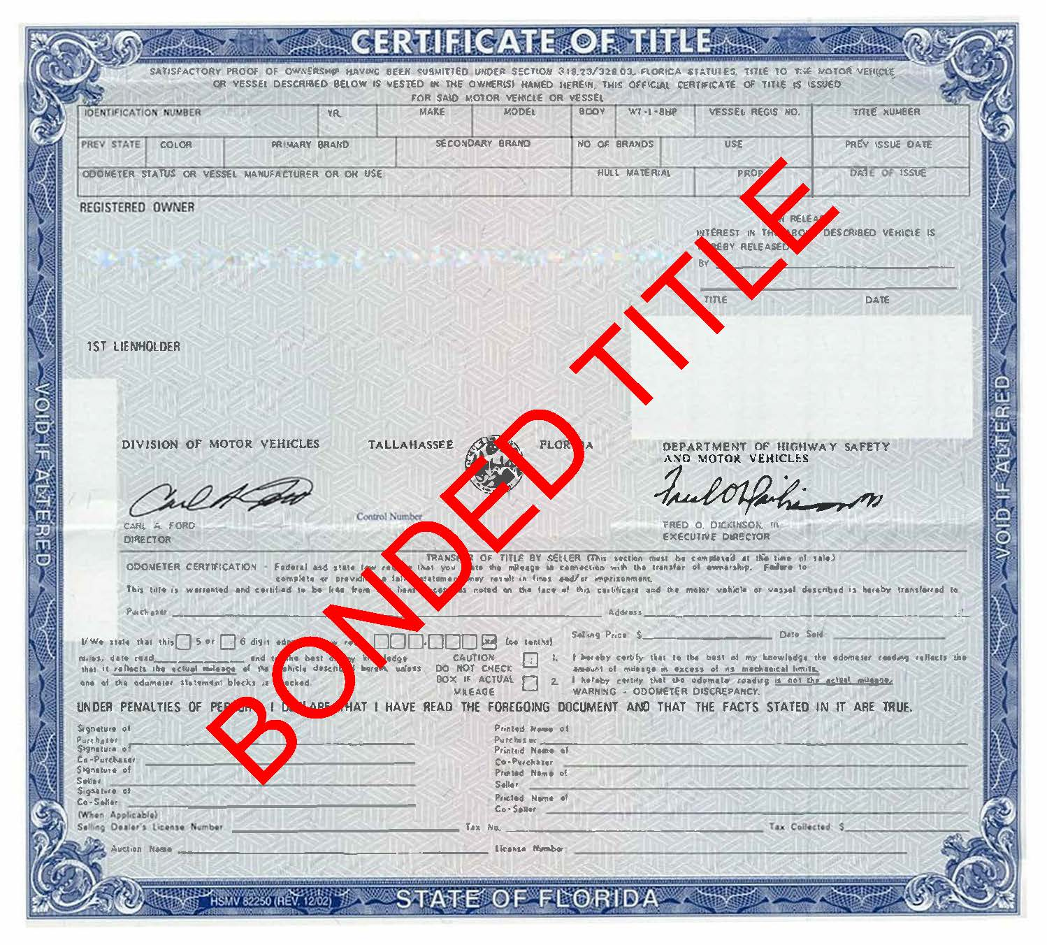 Florida Certificate Of Title Surety Bond A1suretybonds